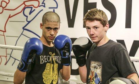 NY gjeng: Enayat Adramzai (t.v.) og Per Aarø er blant de nye utøverne hos Vestmar bokseklubb.
