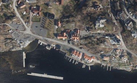 FIKK NEI: Det er i dette området i Rørvik det ble omsøkt etablering av ny flytebrygge.