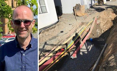 TOMMEL OPP: Utvalgsleder Lars-Erik Vaale (H) og medrepresentantene i hovedutvalg for samfunn og miljø støtter forslaget til ny hovedplan for vann og avløp, som blant annet omfatter utskifting av gamle rør.
