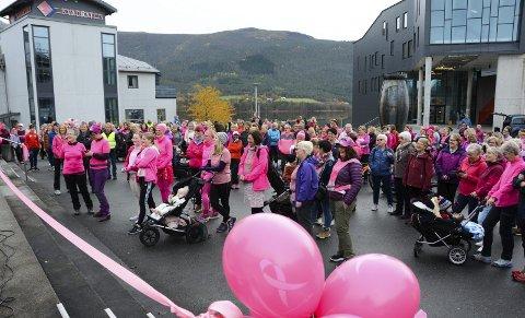 ROSA: Det rosa folkehavet på Torgplassen før marsjen var eit fantastisk skode! Takk til alle dykk som stilte opp.