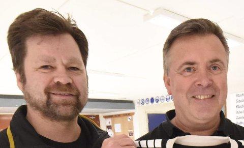 FORNØYDE: Kjell Amundsen (t.v.) og  Tom Fokstuen.