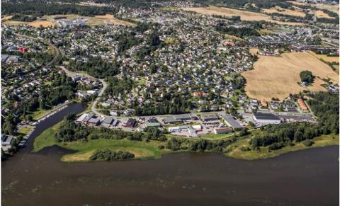 BOLIGER: Området som nå er industriområde, er planlagt omregulert til boligområde.