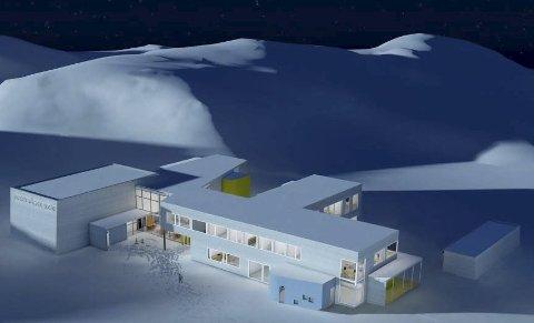 Blir ikke: Slik kunne den nye skolen på Kleppstad blitt. Illustrasjon: Vis A Vis