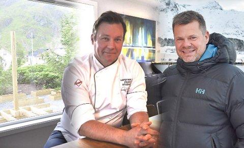 GIR OPP: Roy-Magne Berglund og Trond Ketil Nilsen trekker seg som drivere av kafeen på Meieriet.