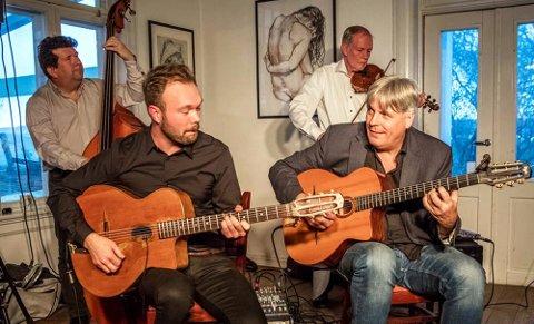 KVARTETT: Lørdag skal Hot Club de Norvège spille på Robert Normann-festivalen.