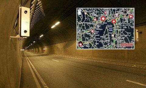 Her blir flest tatt: 211 bilister mistet førerkortet etter å ha kjørt forbi dette kameraet i Rælingstunnelen i Lillestrøm i fjor. Det ga også 3.127 forenklede forelegg. Se listen over alle landets fotobokser nederst i saken.