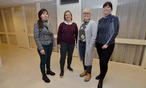 Tidlig innsats: Nå skal tiltak settes ut i praksis sier Iren Ramsøy (fv.), Kristin Rønn Gårderløkken, Therese Holshagen Hansen og Camilla Ulvolden i Sel kommune.