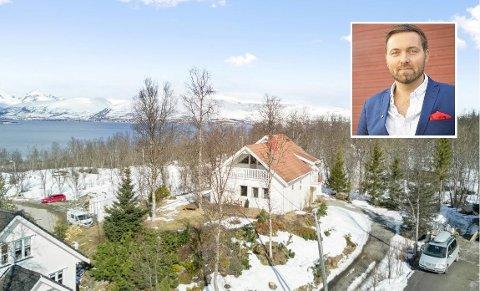 DRØMMEBOLIG: Megler Einar Storhaug har sikret seg dette huset i Hansmarka, 900.000 kroner under prisantydning.