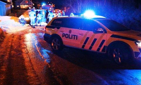 En person ble sendt til sykehus med skader etter trafikkulykken onsdag ettermiddag. Foto: Jon Henrik Larsen/Salangen-nyheter.com