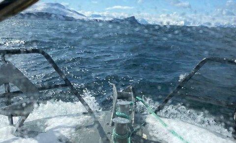 HER SKJEDDE FORLISET: Breivikfjorden beskrives som uforutsigbar med mye urolig sjø.