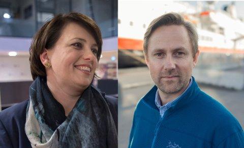 FORSKJELLIGE DELER AV SELSKAPET: Anne Marit Bjørnflaten og Rune Thomas Ege jobber nå i hver sin del av Hurtigruten.