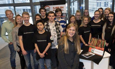 ELEVBEDRIFT: – Genialt opplegg, synes Monika Kørra om førsteklassingenes initiativ i kampen mot voldtekter.