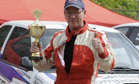 Vant begge dager: Lars Morten Berntsen fra NMK Hadeland vant to NM-runder i bakkeløp i Hunderfossen.