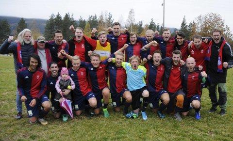 SERIEMESTER: Dokka Sport er seriemester i 5. divisjon sesongen 2019.