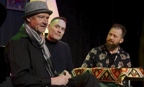 MUSIKKBAD: I en liten prat med Gunnar Flagstad og Johannes Skyberg før og etter konserten utdypet Jon Balke hvordan han laget Warp.FOTO: Hans Olav Granheim