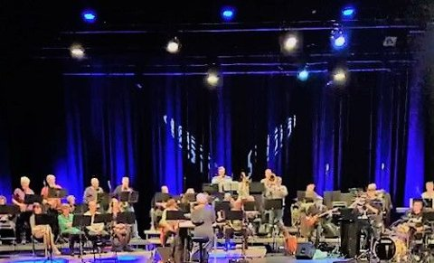 Raufoss Musikkorps fra et tidligere arrangement i fyrverkeriet kulturhus.