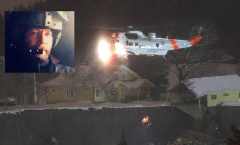 DRAMATISK: Totningen Lars Markengbakken var første redningsmann ned til de skredrammede, men han ønsker ikke å være en helteskikkelse.