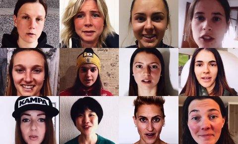 REAGERER: Kvinnelige skihoppere reagerer på at de ikke får hoppe skiflygning i 2022 med en egenprodusert video.  Videoen har fått stor fart i sosiale medier under emneknaggen #girlscanfly.