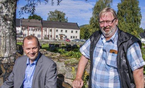 Opptatt av omsorg: Anton Halvor Lofstad (t.v.) og Vidar Freslo vil sette omsorg på dagsordenen før en eventuell storkommune er et faktum.Foto: Lasse Nordheim