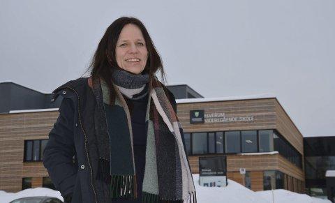 Den nye rektoren: Margrethe Hammer Mobæk er øverste leder for Elverum videregående skole, en av Elverums største arbeidsplasser. Hun er begeistret for både skole, ansatte og elever.