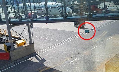 – SKAMMELIG: Flypassasjer Ragna Berg Rolness mener ansattes holdning til baggasje på Gardermoen er skammelig etter at kofferten hennes ble liggende ute på bakken i over en time.