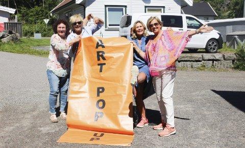 POP up: Gerd Wangestad, Else Gjerdrum, Annethe Østensen og Karin Stenshagen gleder seg til kunstutstilling. Foto: ingrid ciakudia