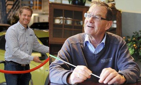 TJENTE MEST: Gunnar og far Jan Gunnar Gjermundsen tjente mest blant lederne i bilbransjen fra øyene.