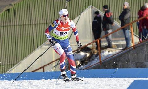 Emilie Ågheim Kalkenberg I junior-VM skiskyting i Slovakia i fjor. Foto: Gøran O. Pedersen