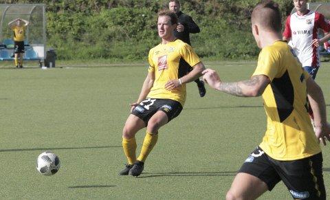 Ønsker satsing: Daniel Anfindsen ble kåret til banens beste mot Lyn. Han håper det snart blir en toppklubb på Helgeland. Foto: Stian Forland