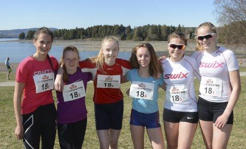 Løten/Moelven vant: Sigrid K. Amlie (f.v.), Maren B. Amundsen, Karen Murud, Karen Plukkerud, Ingunn Hagen, Hanne Kampenhøy.
