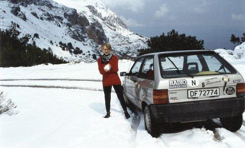 17. mars 1992 i snøen på den greske øya Chios. Kaldere enn verste vinteren i Norge.
