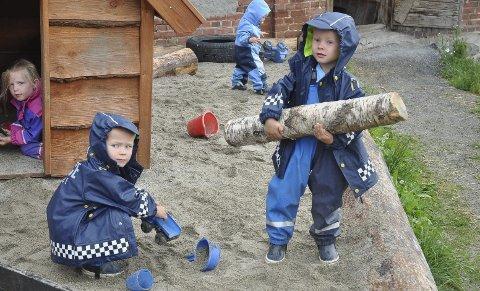 De store lekeområdene på Nordby ble flittig brukt.