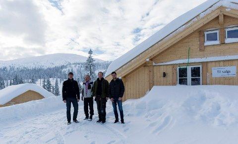 Ole Alexander Heen, Ole Ringerud, Odd Vidar Bråthen og Ole Ringerud jr er eierne av Ringerud hytteutvikling, som satser stort på Vikerfjell.