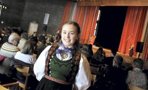 Vant: Malin Røysland Skårberg fikk førstepremie i vokal klasse C.