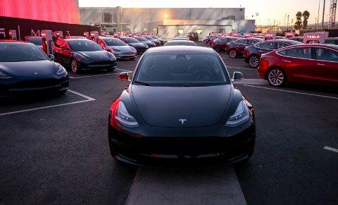 Tesla model 3: Importøren sier Tesla Model 3 vil leveres i Norge fra andre halvår av 2018. FOTO: Produsenten