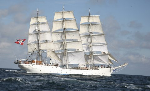 STOR OG KJENT: SS «Christian Radich» er kjent for svært mange, og nå besøker den Hurum i begynnelsen av juni.Foto: radich.no