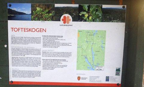 TOFTESKOGEN: Er et av de større naturreservatene i Asker.