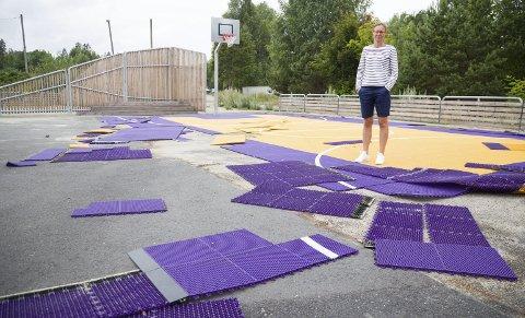 HERVERK: Sommeren 2017 ble det gjort hærverk på uteområdet til Nærsnes skole. Det er en typisk sak for konfliktårdet om gjerningspersonen blir tatt. (Illustrasjon)