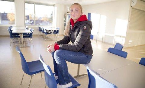 AMBISIØS: Hedda Skaug har nådd målet om å bli med på landslaget på juniornivå. Nå jobber hun fram mot neste EM som senior. – Det var gøy å delta, sier hun.