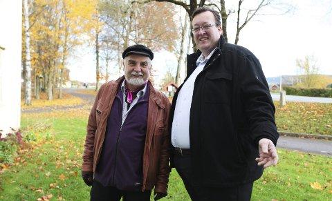 Musikk: Sander Wilfred Liljeroos og Jan Kristian Hverven, leder av Musikkens venner inviterer til høsttoner. Foto: Lena Malnes