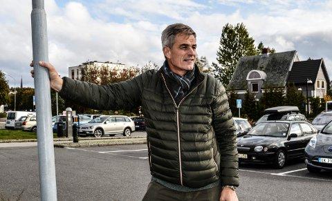 VESTFOLD TINGRETT: Ordfører Bjørn Ole Gleditsch mener Nybyen passer perfekt som sted for ny tingrett, enten på parkeringsplassen ved Jotun Nybyen eller øverst i Dronningens gate.
