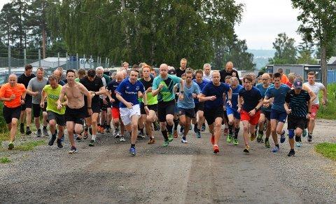START: Det var ganske bra deltagelse i Torsdagsløpet også denne uken