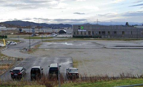På denne tomten på Moseidsletta på Forus skal Maxbo nå bygge varehus.
