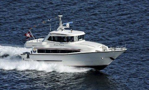 HURTIGBÅT: Denne, eller en liknende båt, ønsker Kragerø fjordbåtselskap og sette inn i trafikken i Kragerøskjærgården.FOTO: HELGØY SKYSSBÅT A.s