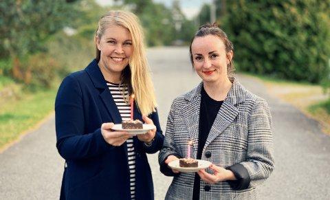DESEMBERBUTIKK: Birgitte Sjøberg og Sara Rydland Nærum skal ha popup-butikk på Hotellet i Skien sentrum i hele desember.