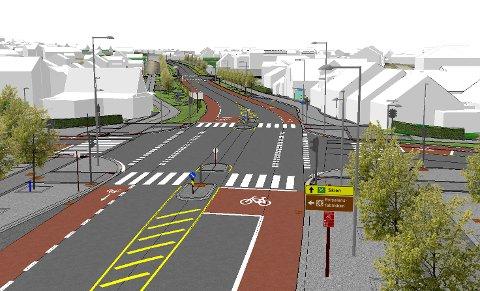 RUSTES OPP: PP-kryss-prosjektet inneholder nye lyskryss, sykkelfelt, torg og parkarealer.
