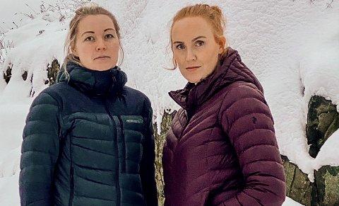 IRRITERT: Anne Therese Hundseth (t.v.) og Mari Moen innrømmer at de ble irritert da de så at det ikke var satt av penger til ny barnehage før i 2022. Kommunestyret skal diskutere budsjettet 16. desember.