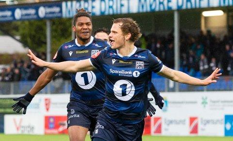 Meinhard Egilsson Olsen har scoret ett mål i Eliteserien så langt – matchvinnerscoringen på overtid mot Tromsø 5. mai.