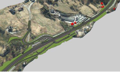 HØRING: Reguleringsplanen for strekningen Staurset - Vinjeøra i Heim kommune, er nå sendt ut på høring. Bildet viser veien like ved Vinjeøra.