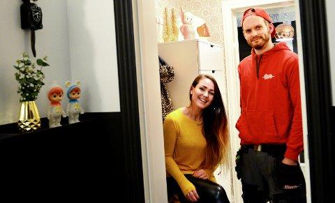 FULLT AV LIV: Etter sju år med oppussing kan Maria Louise Håvåg og Henrik Herwell Håvåg og retsen av familien nyte resultatet som er proppfullt av humor, farge og liv.